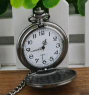 Tungsten steel polished black Continental fashion retro flip pocket watch men and women antique gift watch pocket watch