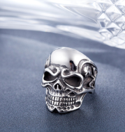 Punk Gothic Rock Personality Taro Titanium Steel Cast Men's Ring
