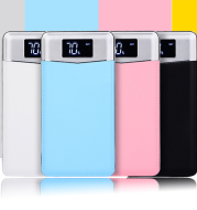 New private model leather mobile power nesting polymer double strong light with digital display charging treasure