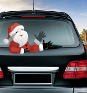 Popular Santa Claus wiper sticker can remove the car rear windshield wiper Sticker Car Stickers