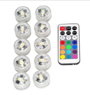 Remote control diving light 3CM diamond twist full color red green blue white warm white waterproof LED light