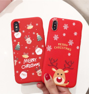 Scarlet Christmas silicone mobile phone case