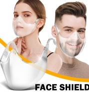 Foldable Transparent Reusable Clear Face Masks Breathable Earloops Cycling Mask