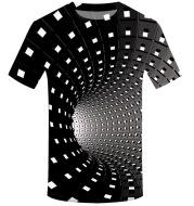 3D swirl print T-shirt