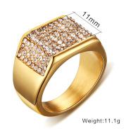 Titanium steel diamond men's ring