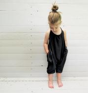 Girls' sling jumpsuit