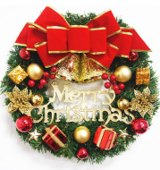 Christmas Wreath Clover Wreath Natural Pine Decorative Christmas Garland with Frost