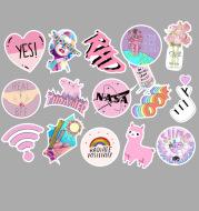 Pink Waterproof Stickers