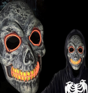 New Halloween Mask Party Party skull luminous mask EL cold light line mask factory direct sales