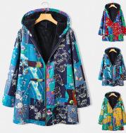 Loose long - sleeved cotton-padded jacket