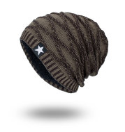 Five-star men's knitted hat