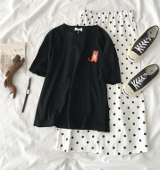 Cute embroidery ladies T-shirt
