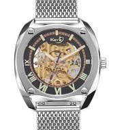 Hollowed-out tourbillon mechanical net belt watch