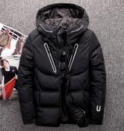 Men's hooded down jacket winter casual down jacket