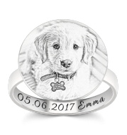 Customize Pet Rings for Pet Lovers 925 Sliver