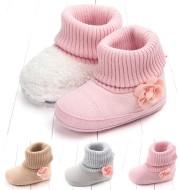 New winter baby floret warm cotton boots