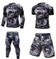 MMA Work Out Compression Rashguard T Shirt