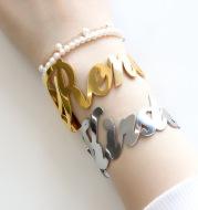 Stainless steel name custom Bracelet