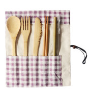 Portable Bamboo Tableware 6-Piece Set