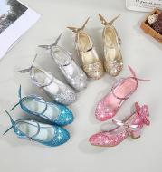 Girl's high heel princess shoes performance shoes