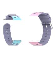Pink Cartoon kids watch silicone strap