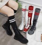 Sock shoes high top boots sneakers flat shoes