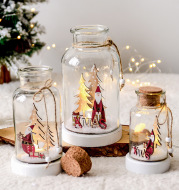 Christmas Day atmosphere snow bottle wish bottle