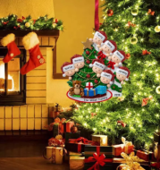 Christmas resin pendant