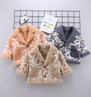 Boys and girls foreign style fur coat warm jacket