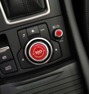 Central control knob sticker