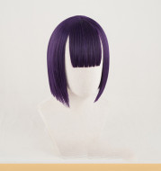 Cosplay wigs are short and purple