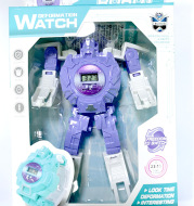 Electronic cartoon deformation robot watch