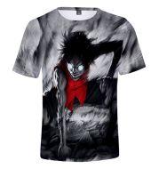 One Piece 3D round neck short sleeve T-shirt