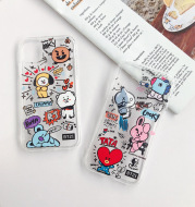 Cartoon bear and rabbit mobile phone case
