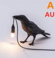 Creative Auspicious Bird Resin Wall Lamp Decoration