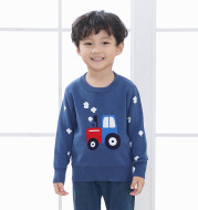 T-shirt tractor cotton double layer warm sweater