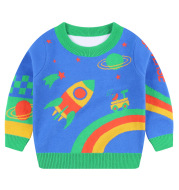 Children's novel space cotton warm sweater