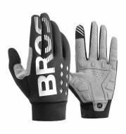 Fleece touch screen full finger bicycle motorcycle gloves