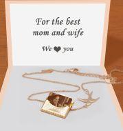 Personalized Gift Customized Photo Envelope Pendant Necklace