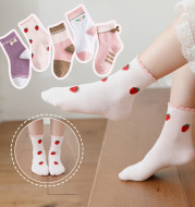 New products children's socks combed cotton bow