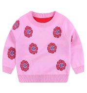 All-match creative girls' knitted sweater plum sweater