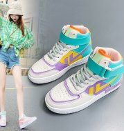 Casual color matching high top basketball shoes