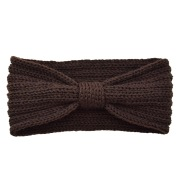 European and American flat stitch bow headband
