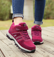 New style cotton shoes for middle-aged and elderly people with velvet to keep warm and non-slip soft sole