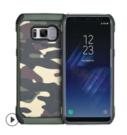 Camouflage Samsung note9 mobile phone case galaxy S9/S8/Plus/S7 edge protective cover anti-fall