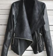 Winter Women Coat Motorcycle Leather Jacket PU Clothes