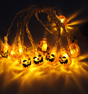 10 LED Hanging Decor Halloween Pumpkins / Ghost / Spider / Skull LED String Lights Lanterns Lamp For DIY Home party outdoor Supplies