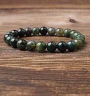 Natural water grass agate bracelet