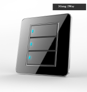 Black mirror point type tap switch