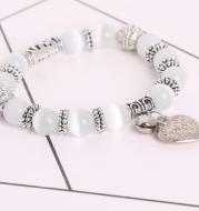 Yoga-Supreme™ 10 mm White Cat Eye Beads